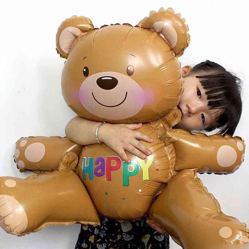 30'' Large 3d Happy Bear Shape Foil Balloons For