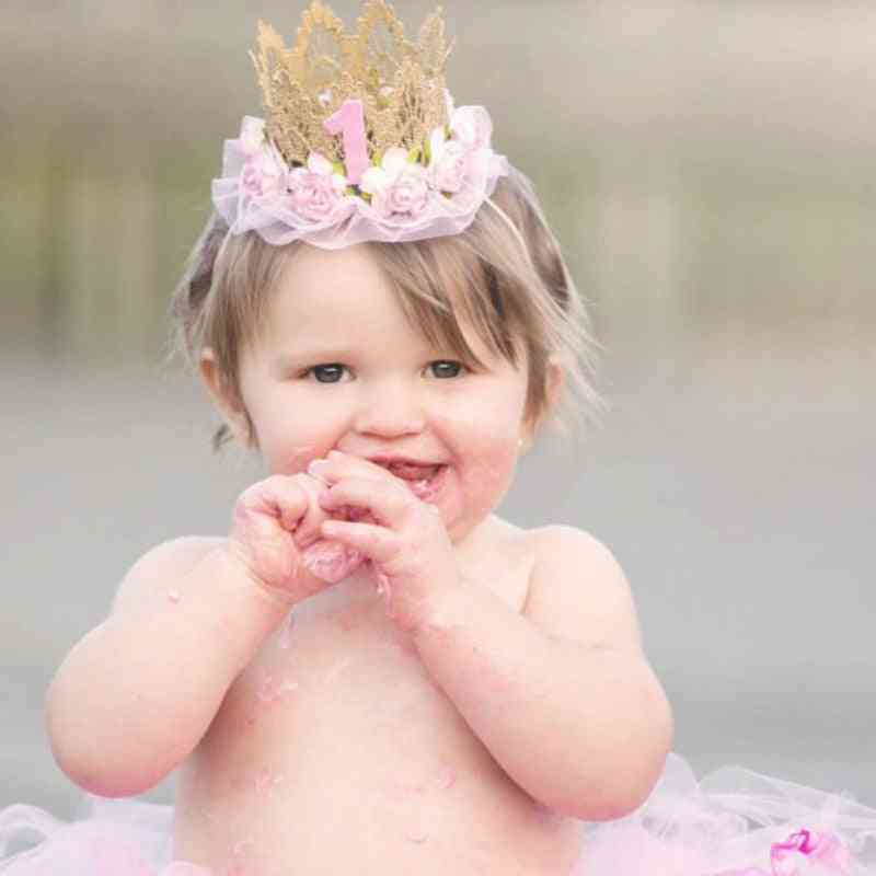 Princess Crown Shape Head Band For 1 Year Old Baby Girl
