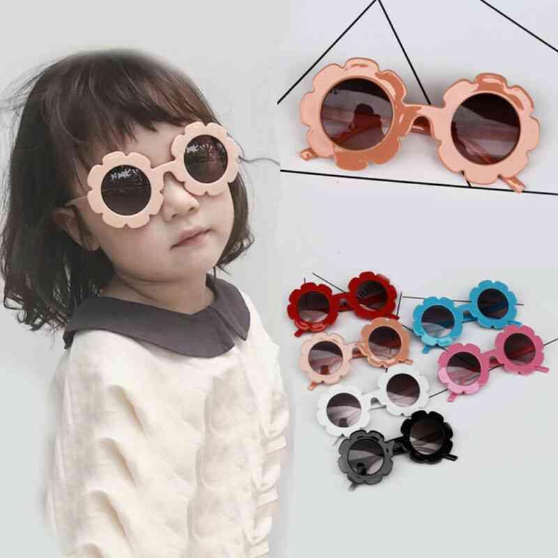 Round And Flower Shape Kids Sunglasses