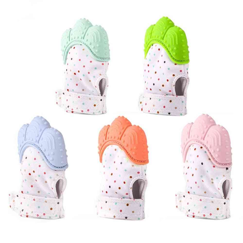 Unique Convex Design, Silicone Teething Mitten Glove For Babies