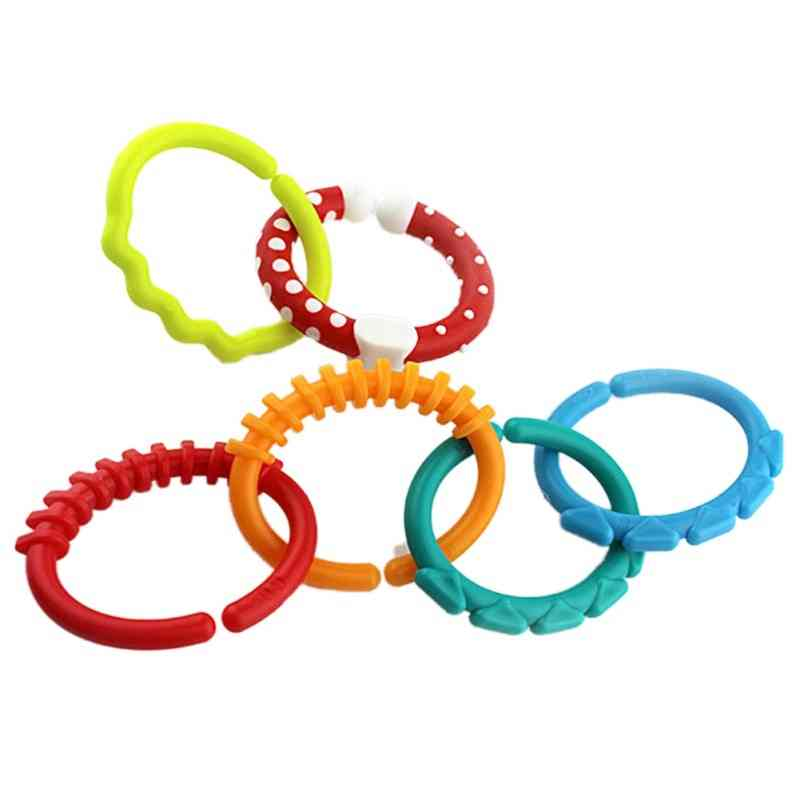 Multi-sensory Silicone Teether, Link For Stroller Hanging