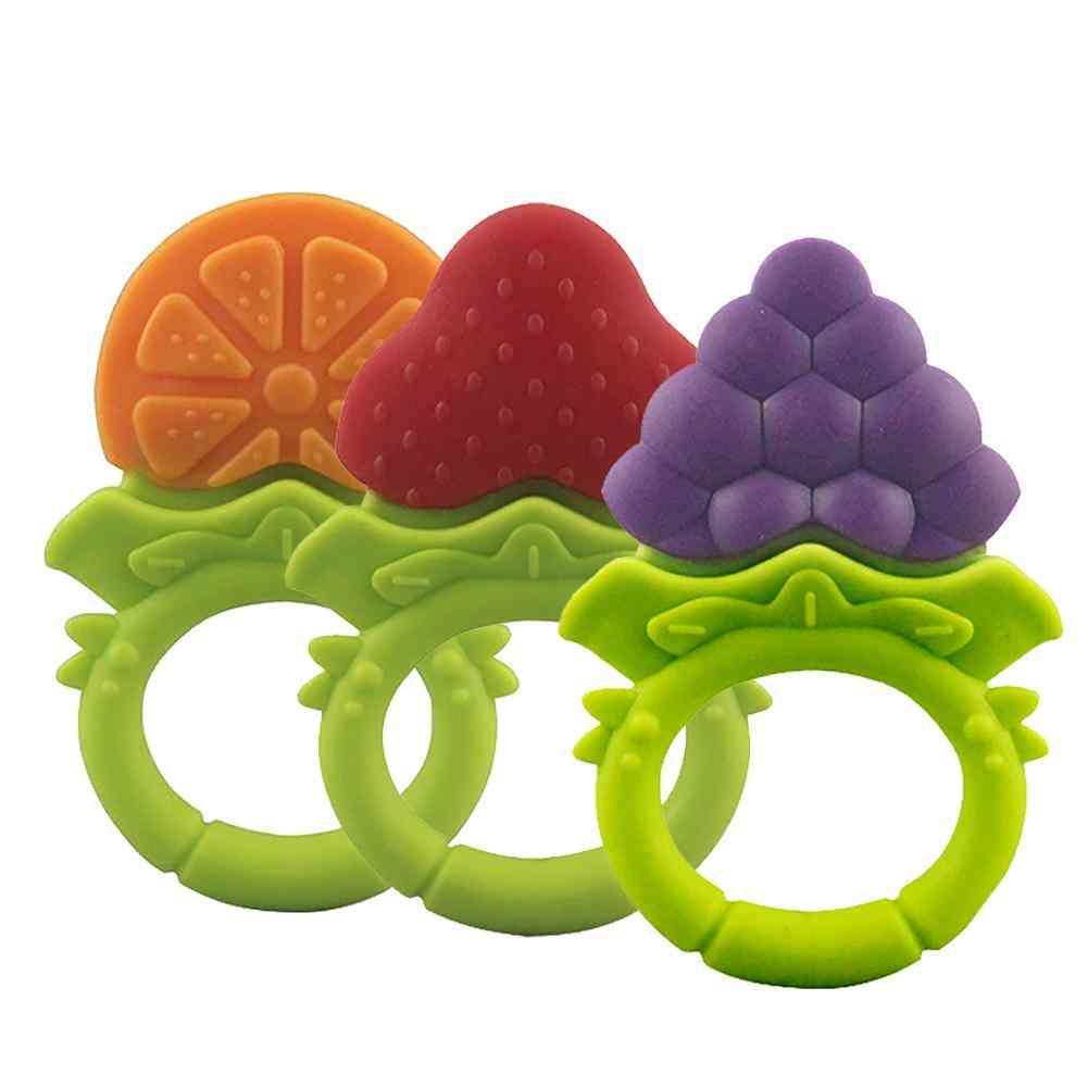 Fruit Shape, Silicone Wristband Teether-sleeping For Kids