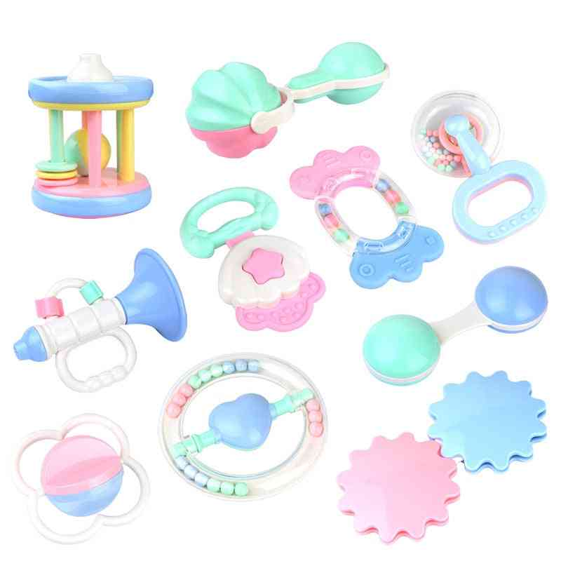 Baby Rattle Hand, Hold Trumpet Shaking Bell, Lovely Ring Newborn Teether