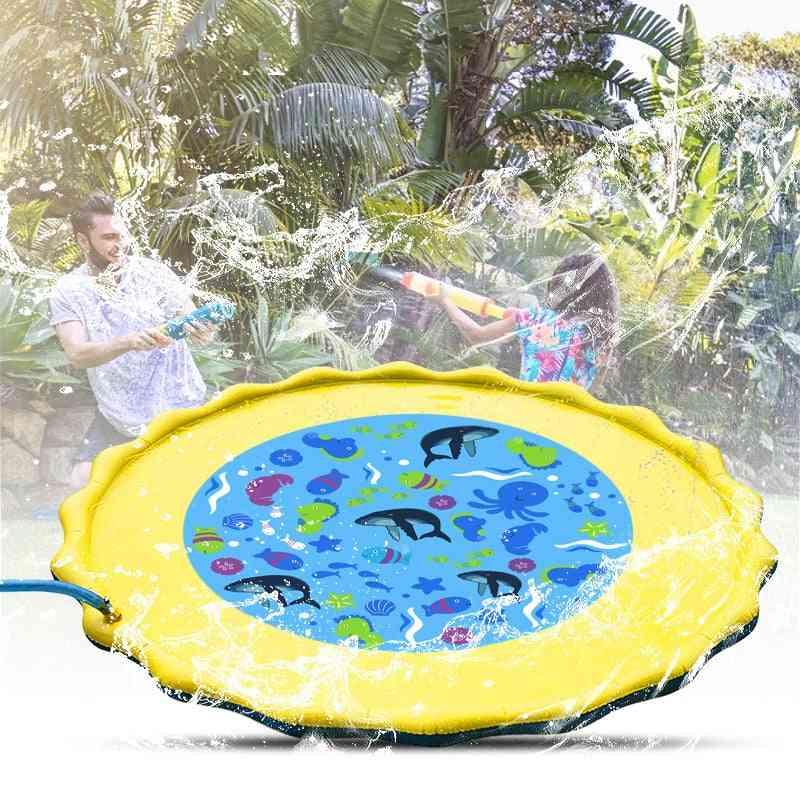 Children Water Spray Toy, Summer Water Sprinkler Mat Outdoor Lawn Game Water Pads
