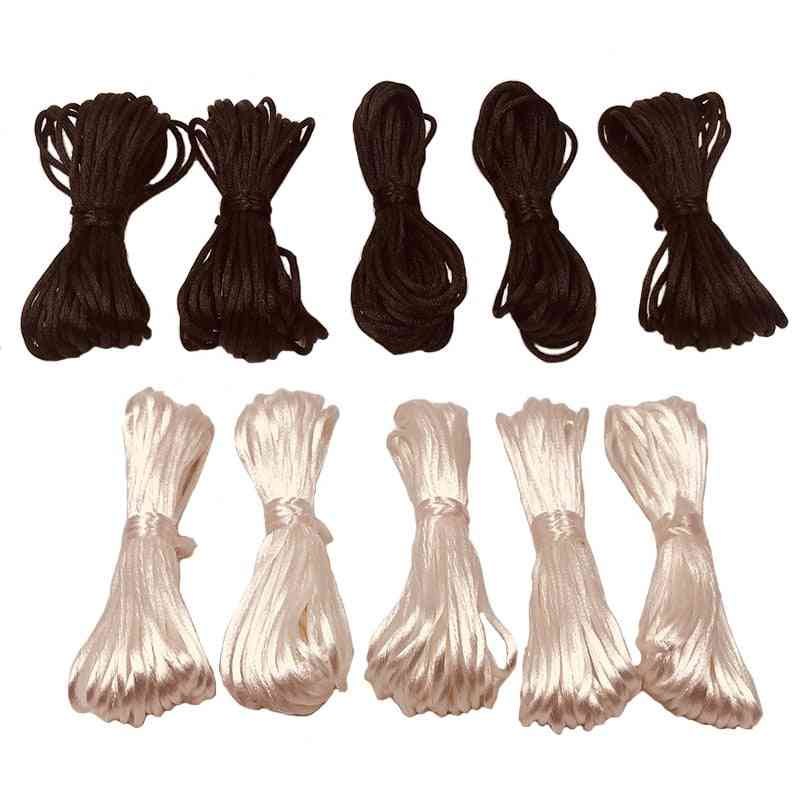 Soft Satin Rope For Diy Jewelry Making, Beading, Necklace Pendant
