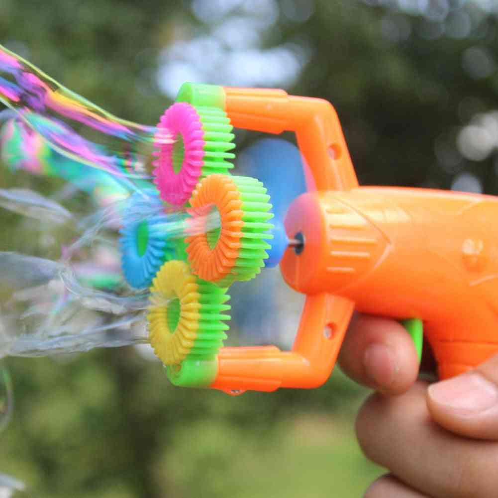 4-hole Electric Automatic Bubble, Blower Maker Machine Toy