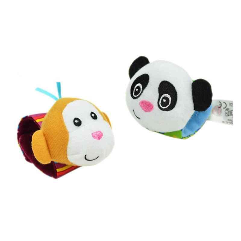 Cute Animal Infant Hand Wrist Bell, Foot Sock Rattles