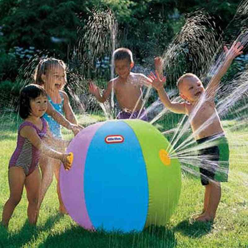 Inflatable Spray Water Ball, Summer Outdoor Swimming Beach Pool Play Lawn Balls For