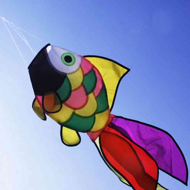 Rainbow Fish Kite, Line Stunt Kites Flying Long Tail, Outdoor Fun Sports For
