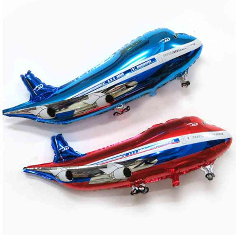 Airplane Shape Foil Balloons For Birthday Party Decorations And Kids