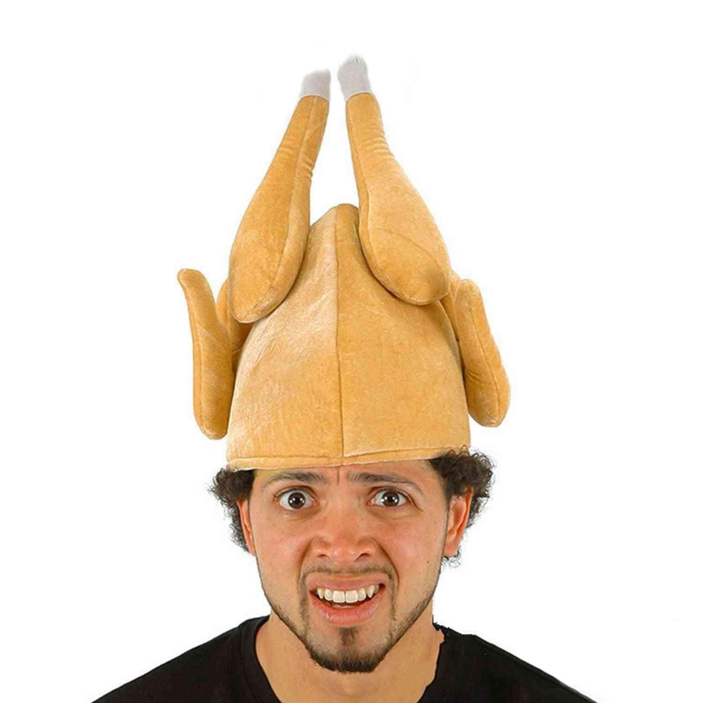 Soft Velvet, Roasted Turkey Hat For Parties