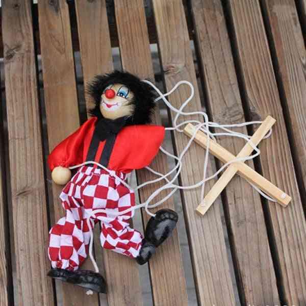 Wooden Clown Marionette Puppet Toy