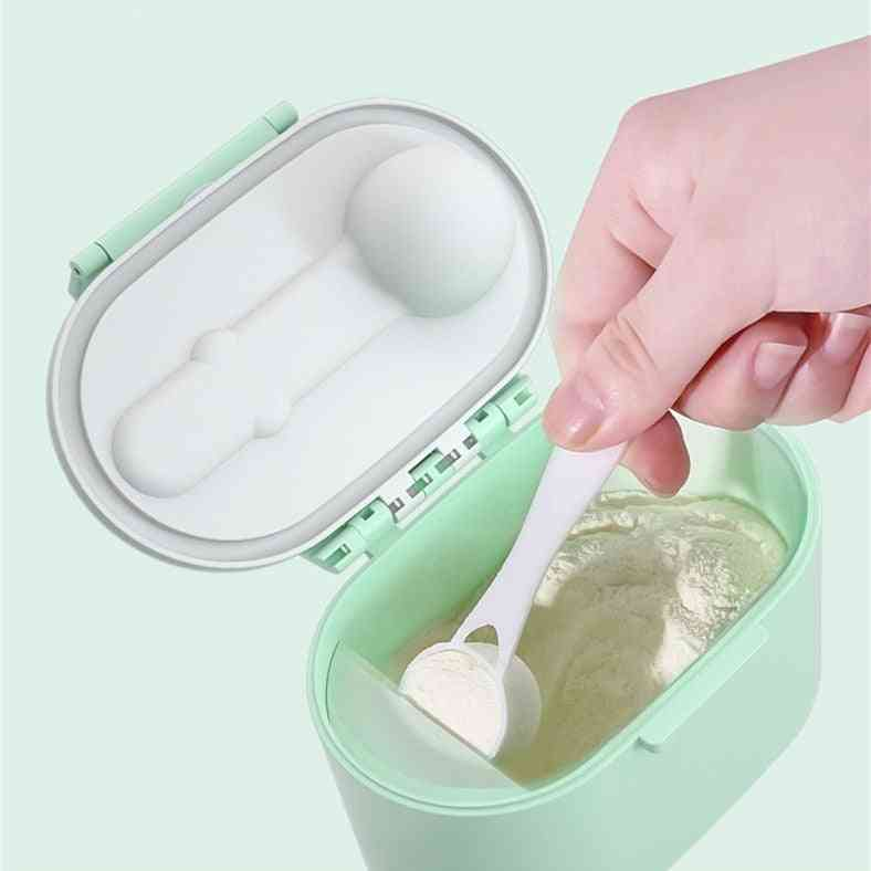 Baby Formula Milk Storage And Dispenser Box With Spoon