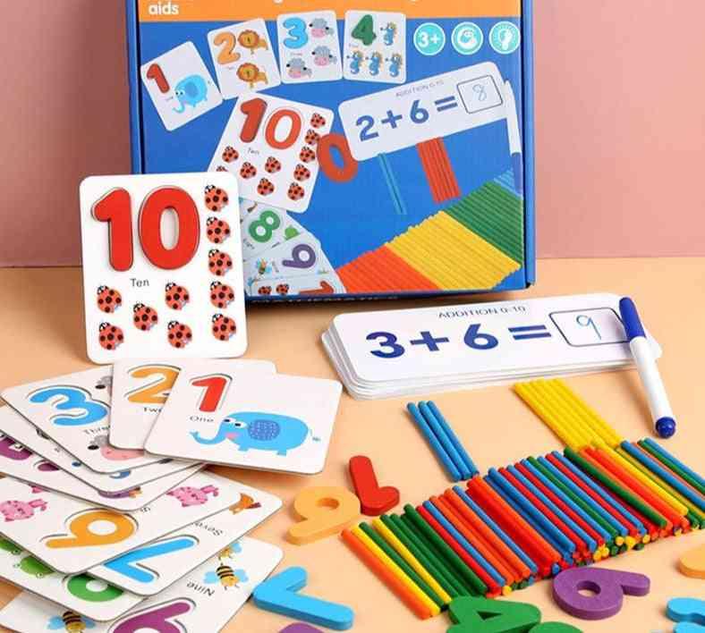 Montessori Mathematics Educational-wooden Sticker