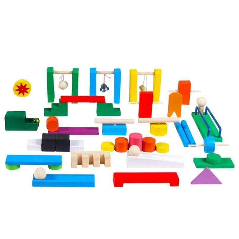 Wooden Organ Blocks Rainbow Game Montessori Educational Accessories For