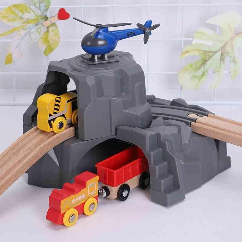 Plastic Double Tunnel For Wooden Train Play System