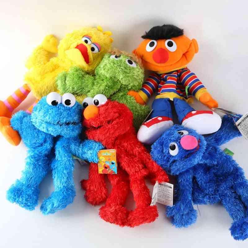 Cartoon Sesame Street Hand Puppet, Fantoche Doll Large Puppet Soft Toy For, Kids