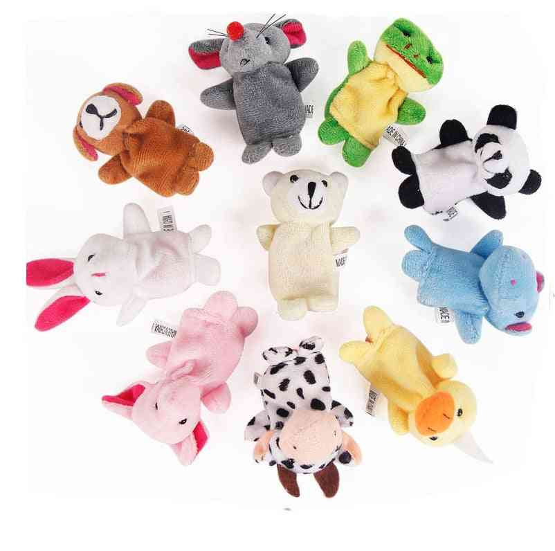 Finger Puppets Tell Story Props, Animals And Family Doll For Baby, Kids (family And Animals)