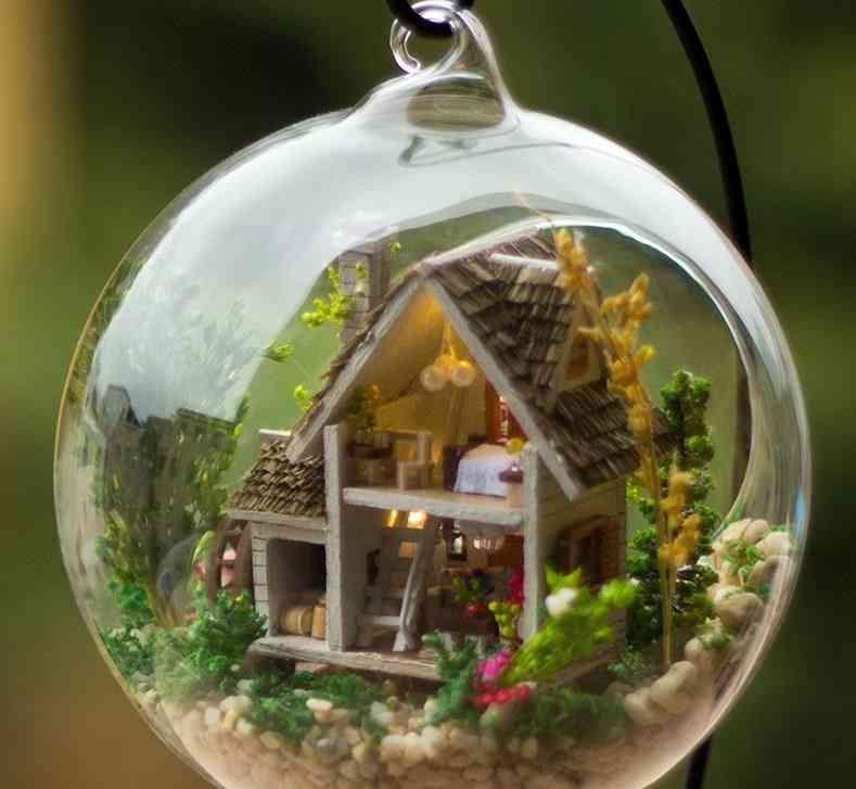 Mini Crystal Ball Diy House Accessories
