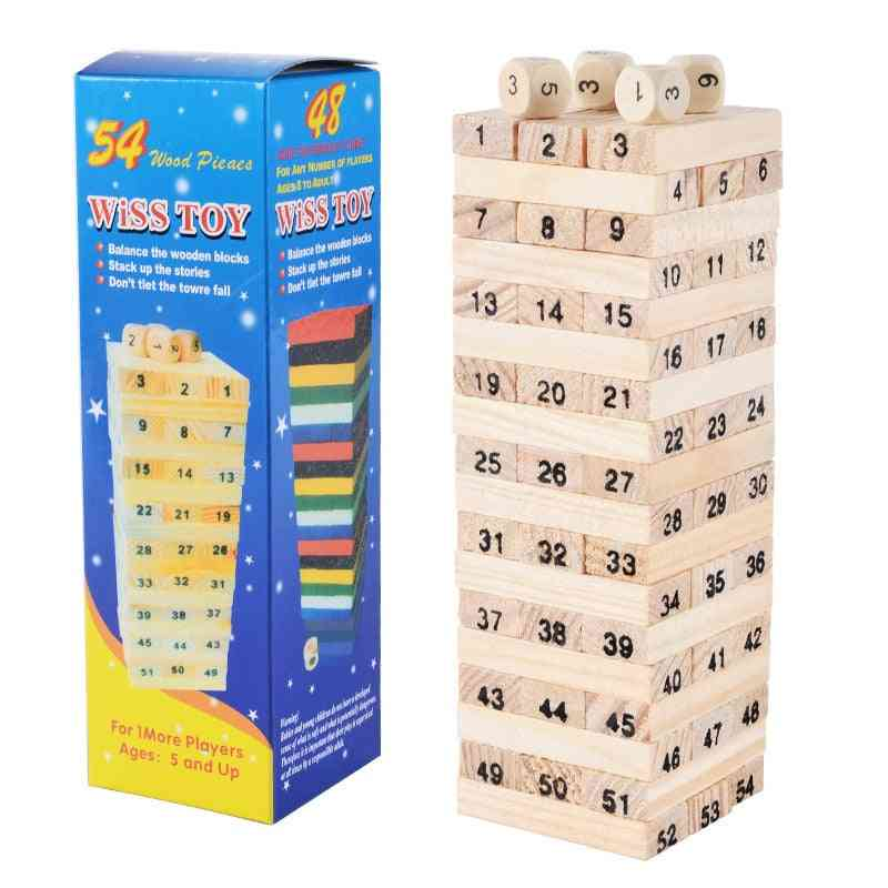 Wooden Building Construction For-dominos Stacking