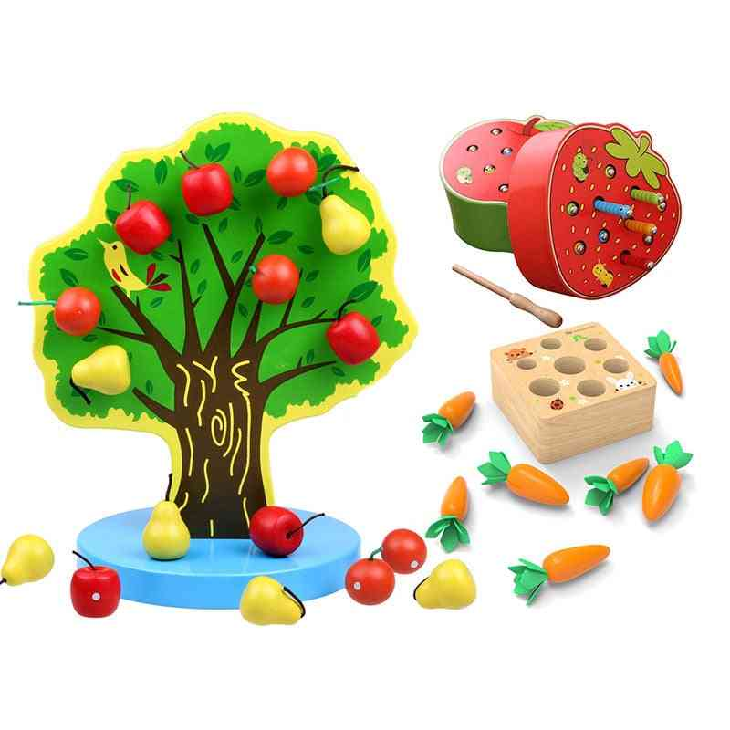 Montessori Baby Tree Magnetic Wooden, Educational Learning