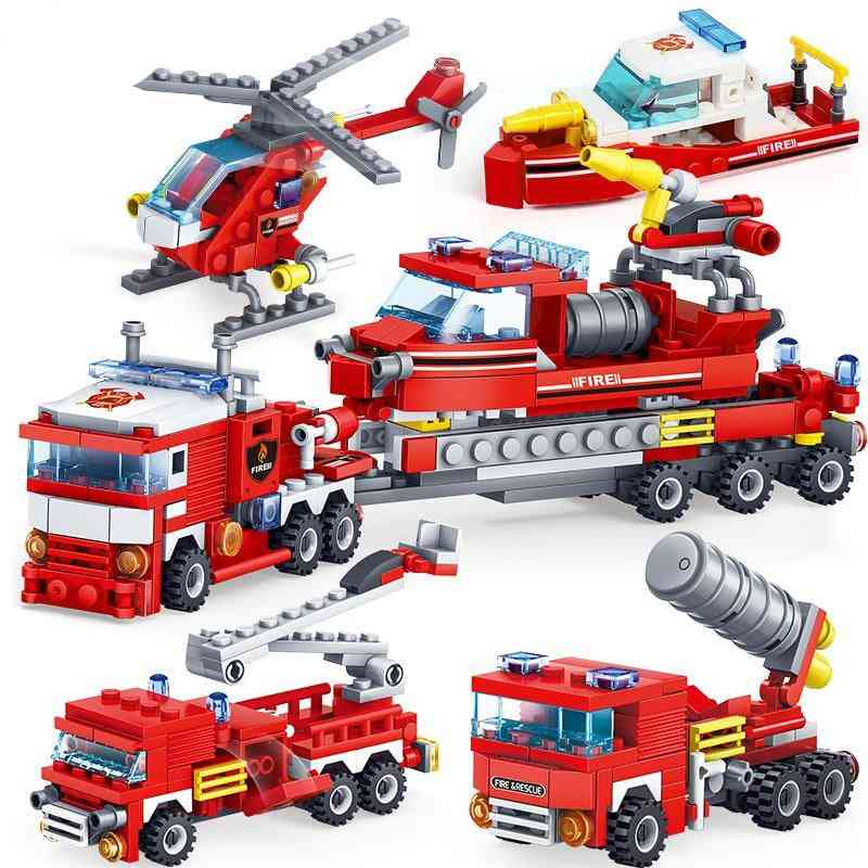 4in1 Fire Fighting Truck Set For