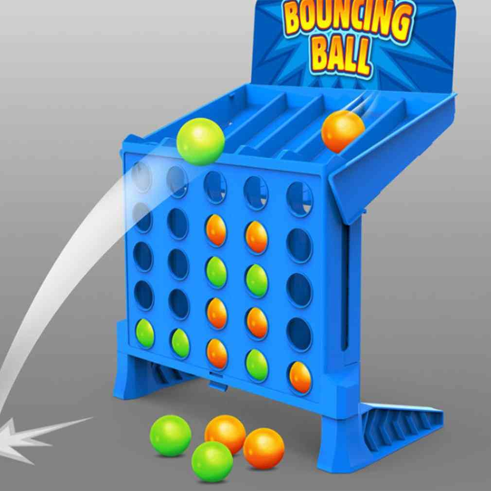 Bouncing Linking Shots Educational,'s Portable Jump Ball, Four-line Board Game For