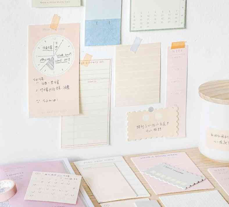 Afternoon Series, Nononsense Memo Pad, Creative Solid Color Sticky Notes