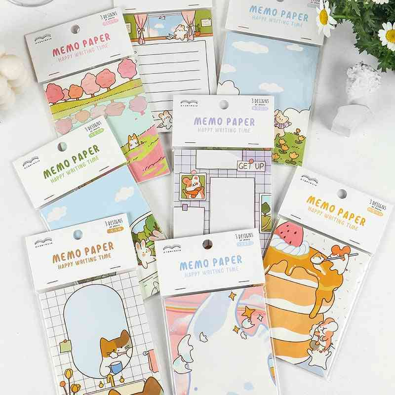 Happy Play Manual Memo Pad, Cute Stationery N Times Sticky Notes