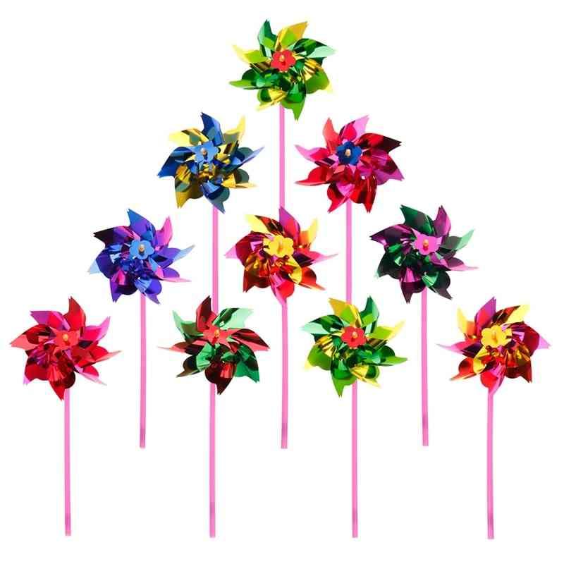 Plastic Wind Pinwheel And Decoration