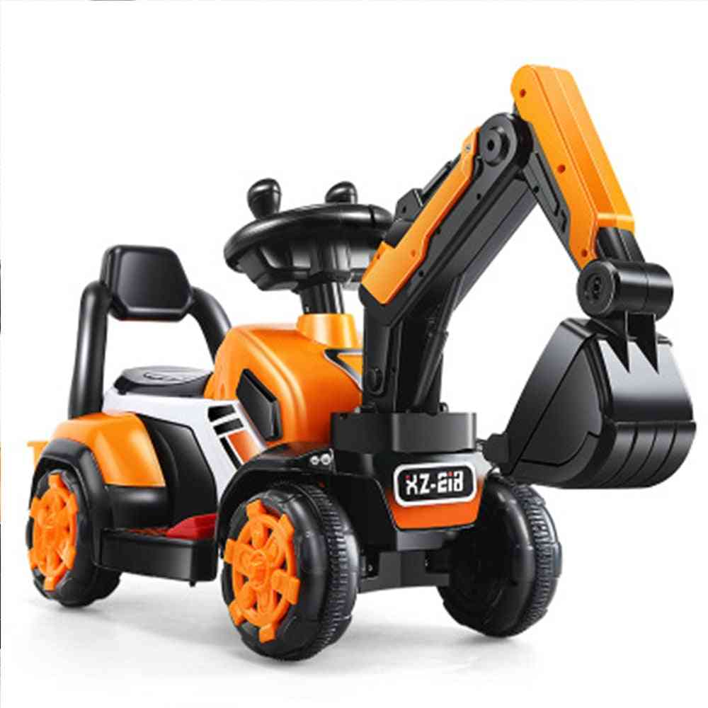 Children's Electric Car Toy, Remote Control Knight Excavator For Kids