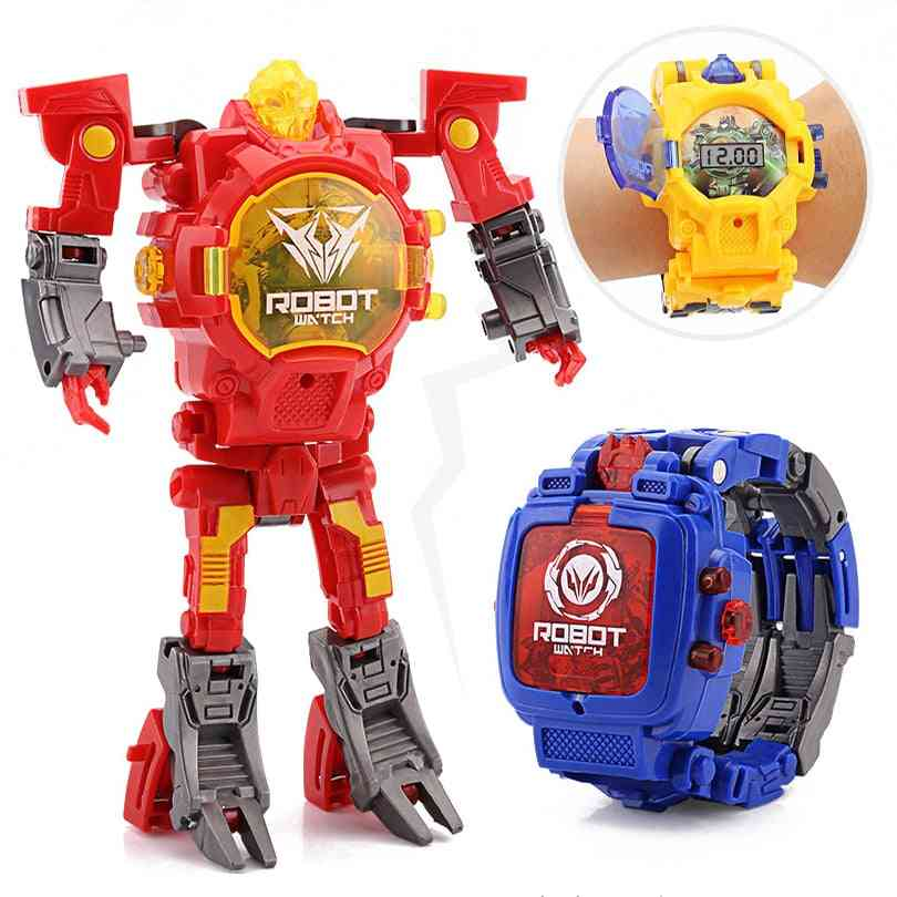 Electronic Transform Robot Watch For
