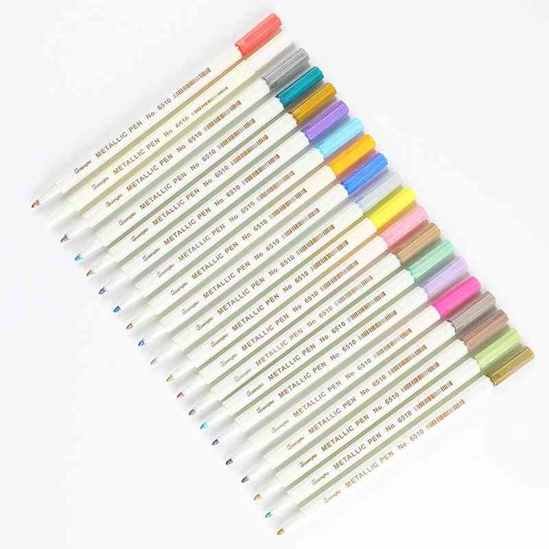 Metallic Micron Pen, Detailed Marking Metal Marker For Album