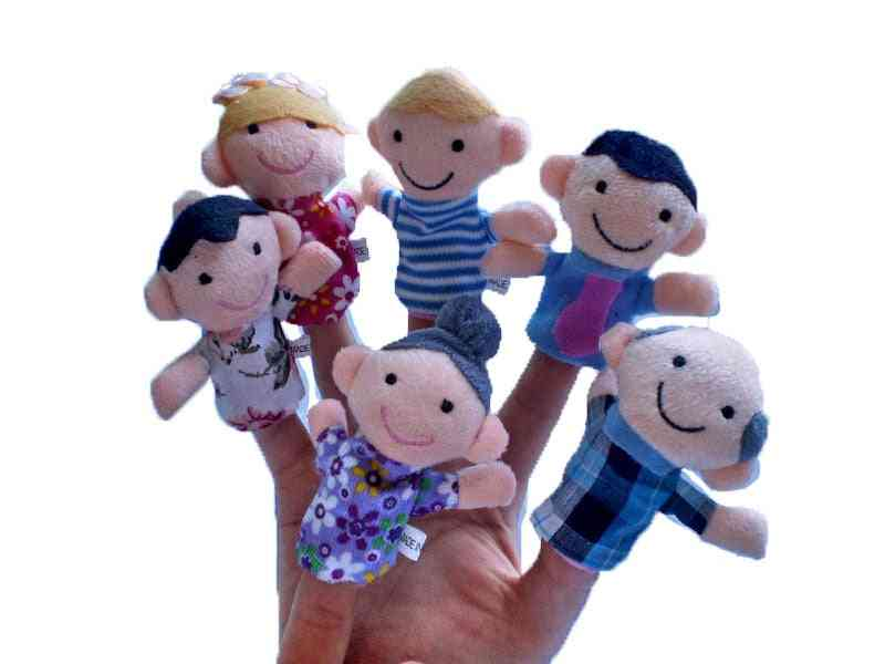 Cute Animal Hand Puppets Finger, Baby Dolls Plush Toy