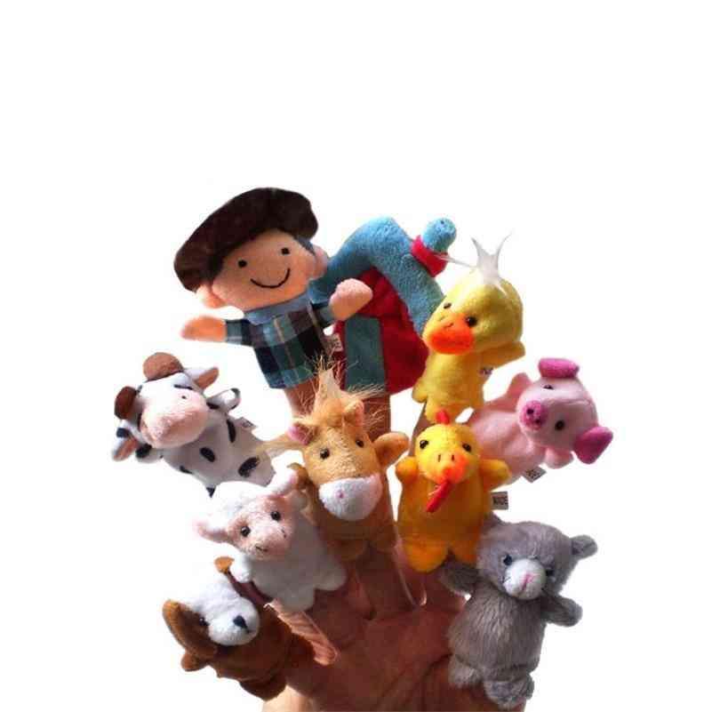 High Quality Finger Puppet, A Farm Plush, Cartoon Biological Baby Favor Doll