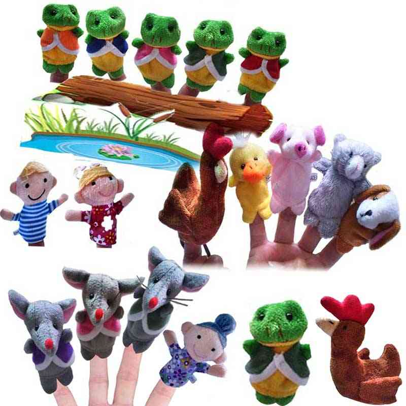 Frog, Hen & Mouse Animals Finger Puppets Toy