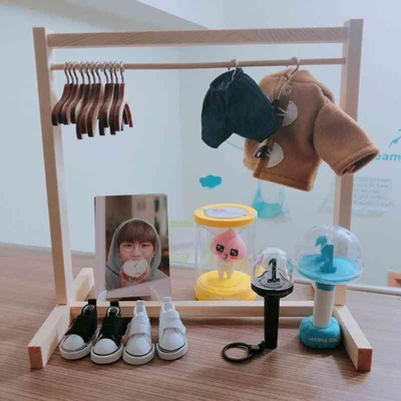 Doll Use Wooden Wardrobe, Wood Coat Rack
