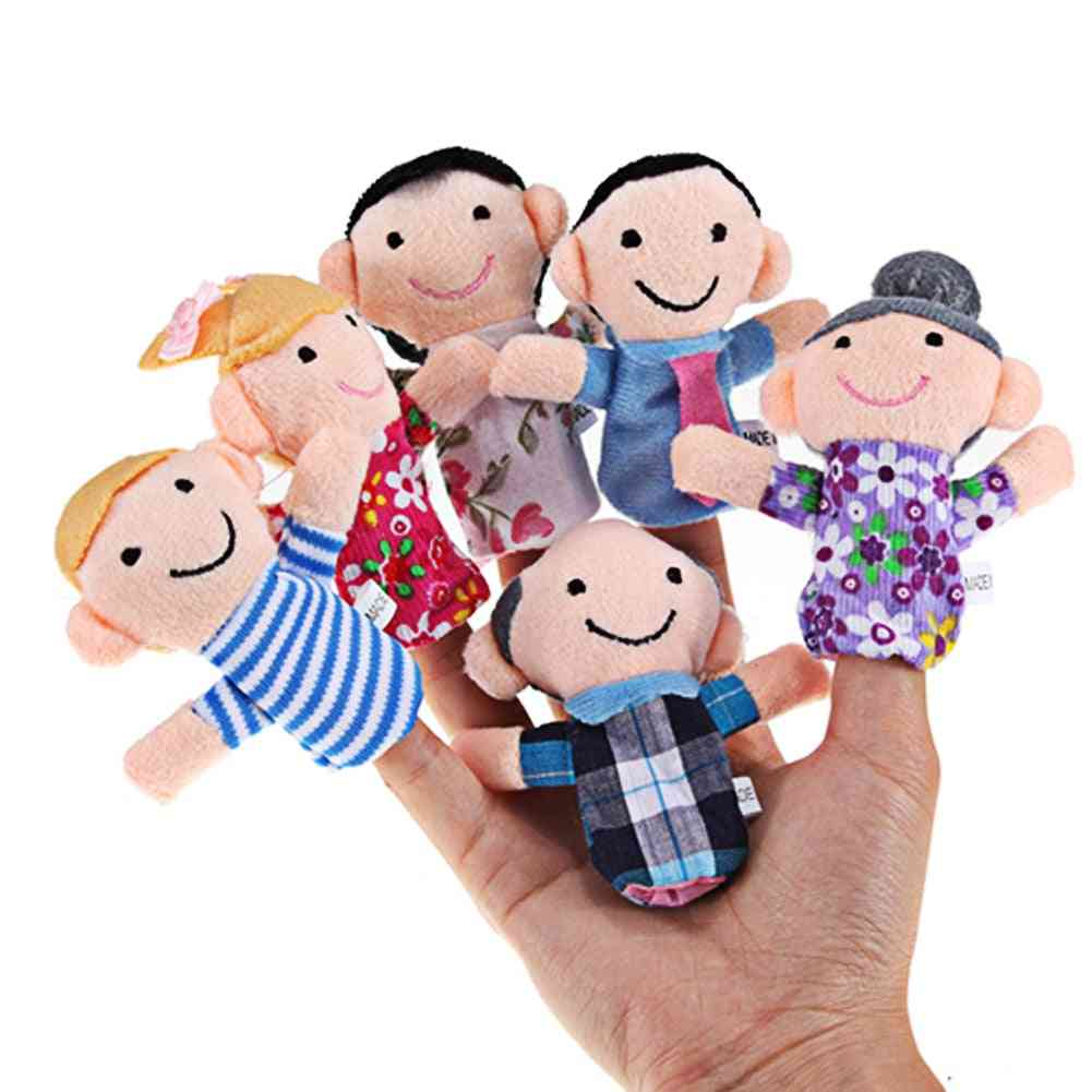 Family Finger Puppets, Plush Cloth Doll
