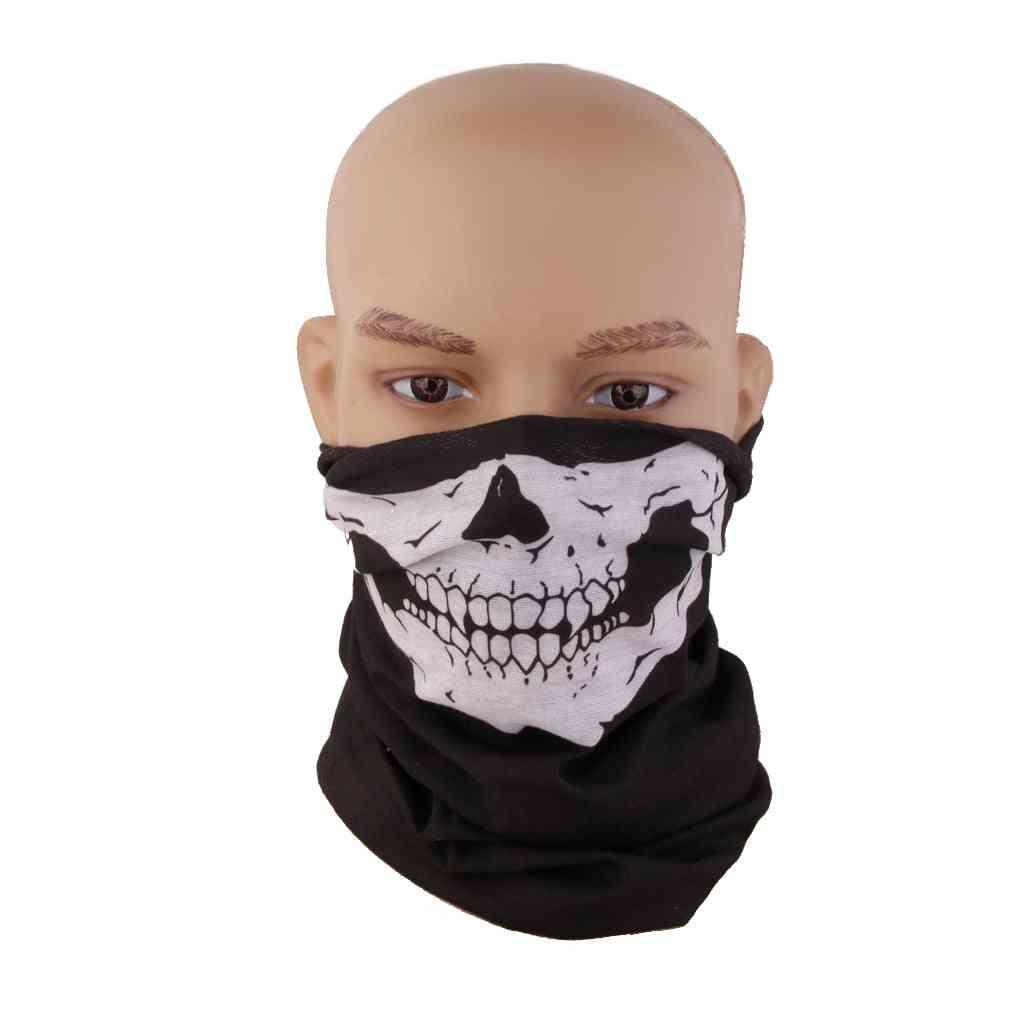 Skull Face Mask, Scarf Skeleton Snood Neck