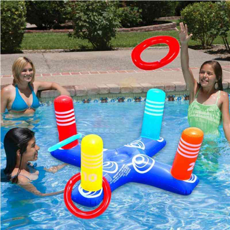Inflatable Cross Throwing Ring-hoop Toss Beach Set