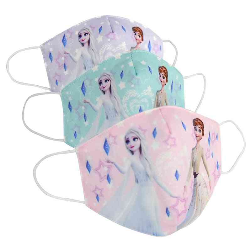 Cartoon Printed, Anti-haze And Reusable-dust-proof Face Mask For Kids