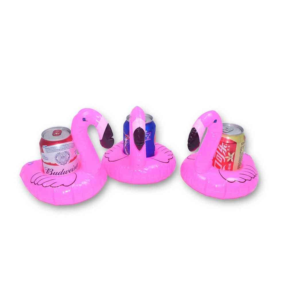 Inflatable Flamingo Drinks Holder, Multi Type Coasters Summer Unicorn Cup Pool Float