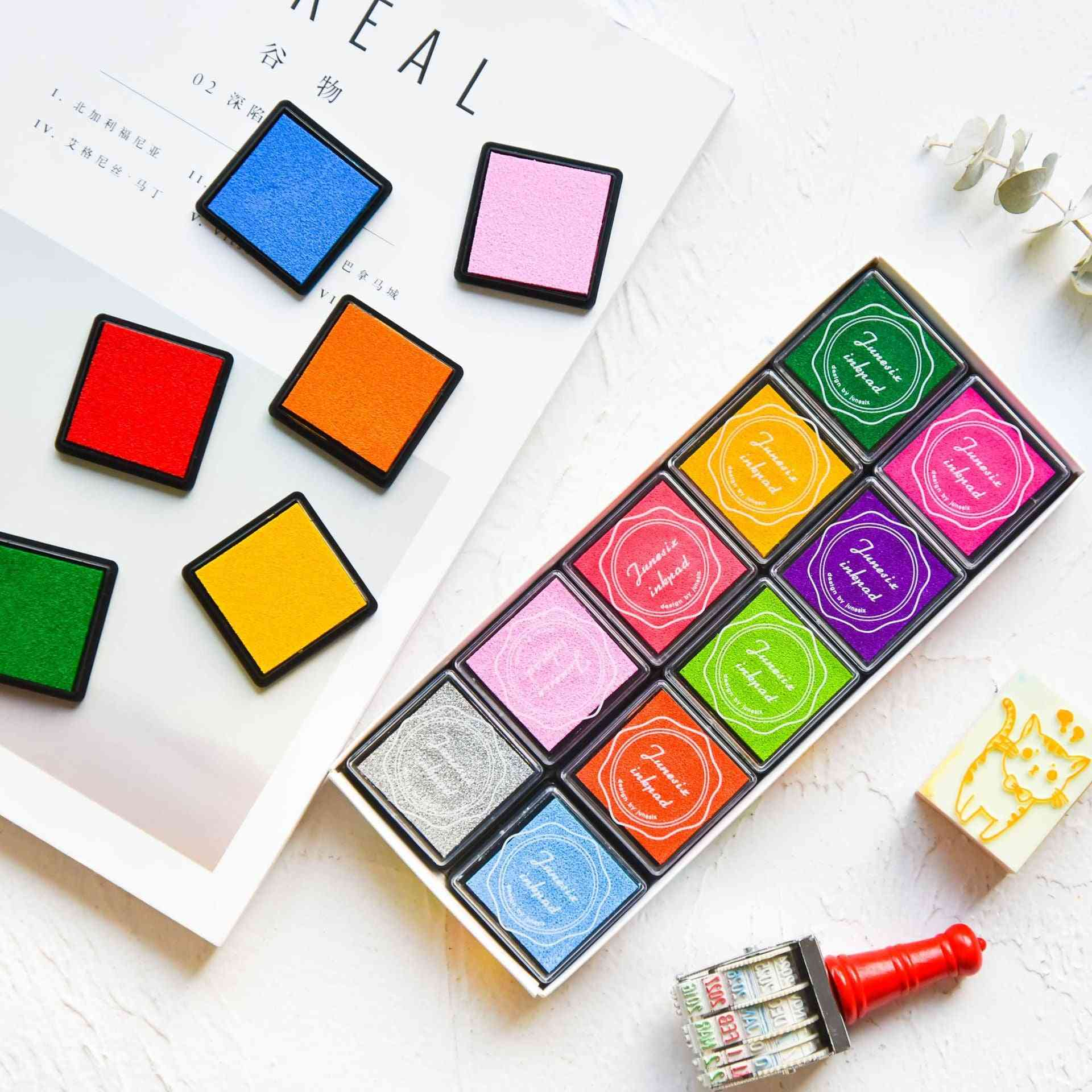 Multi-colored Giant Stamp Pads-finger Drawing Paint Set