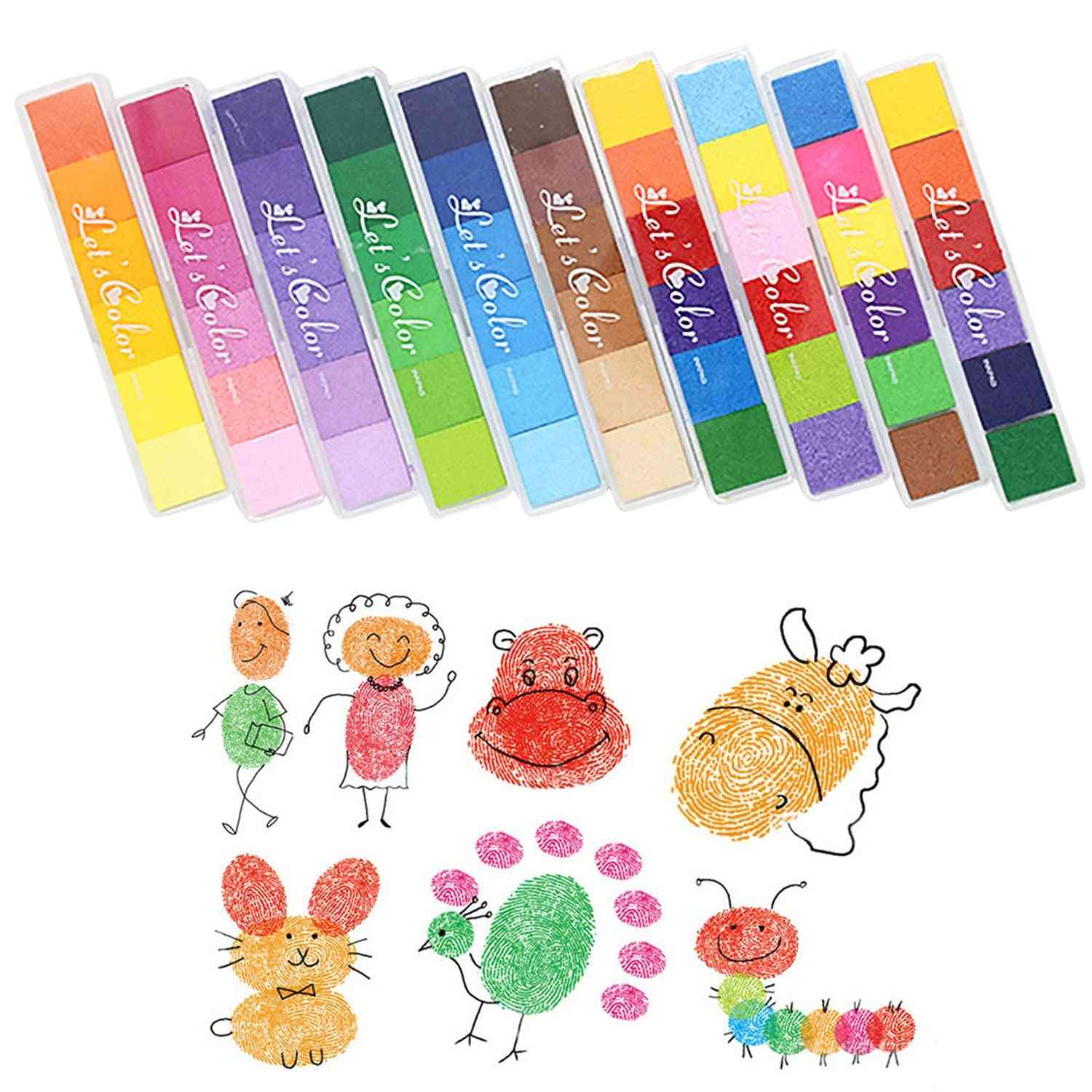 Non-toxic Washable Ink Pad, Scrapbooking Finger Painting Graffiti Toy