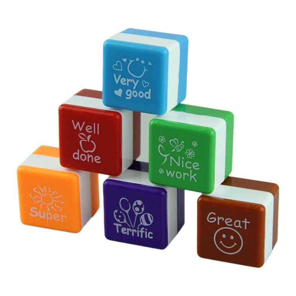 Motivational Stamp Set For Scrapbooking Diy Cartoon Ink Pads