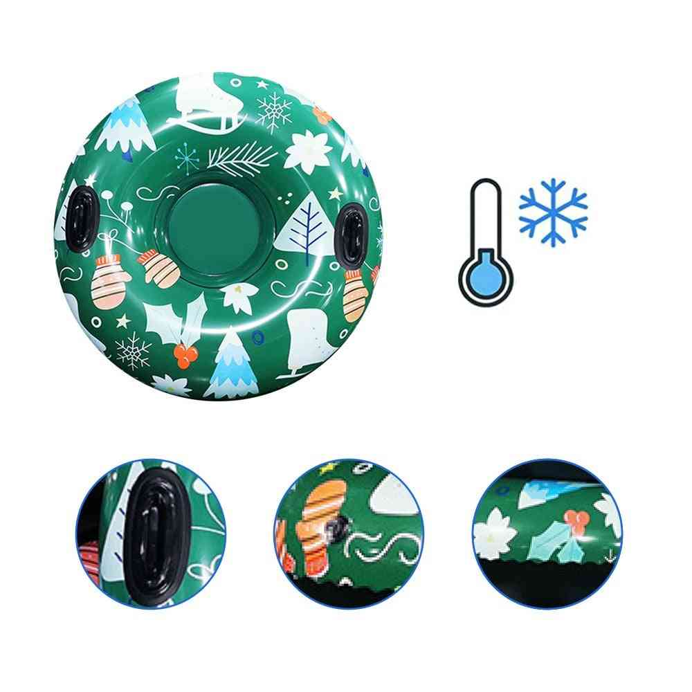 Skiing Ring With Handle Pvc Snow Sled Tire Tube