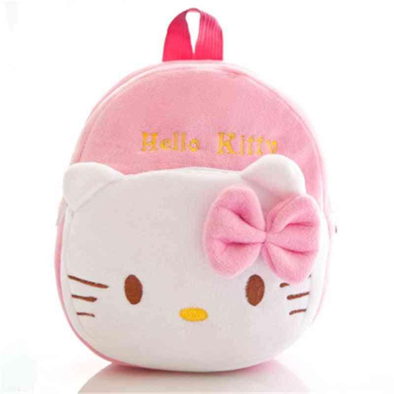 Hello Kitty/mickey/minie Cartoon Plush Backpack
