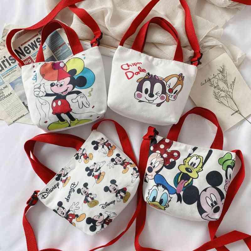 Mickey Cartoon Printed Canvas Handbag