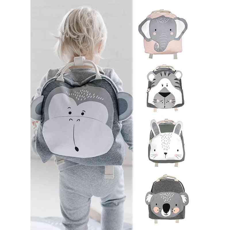 Baby Plush Backpack, 3-8 Yrs Bags, Cartoon, Animal's Schoolbag