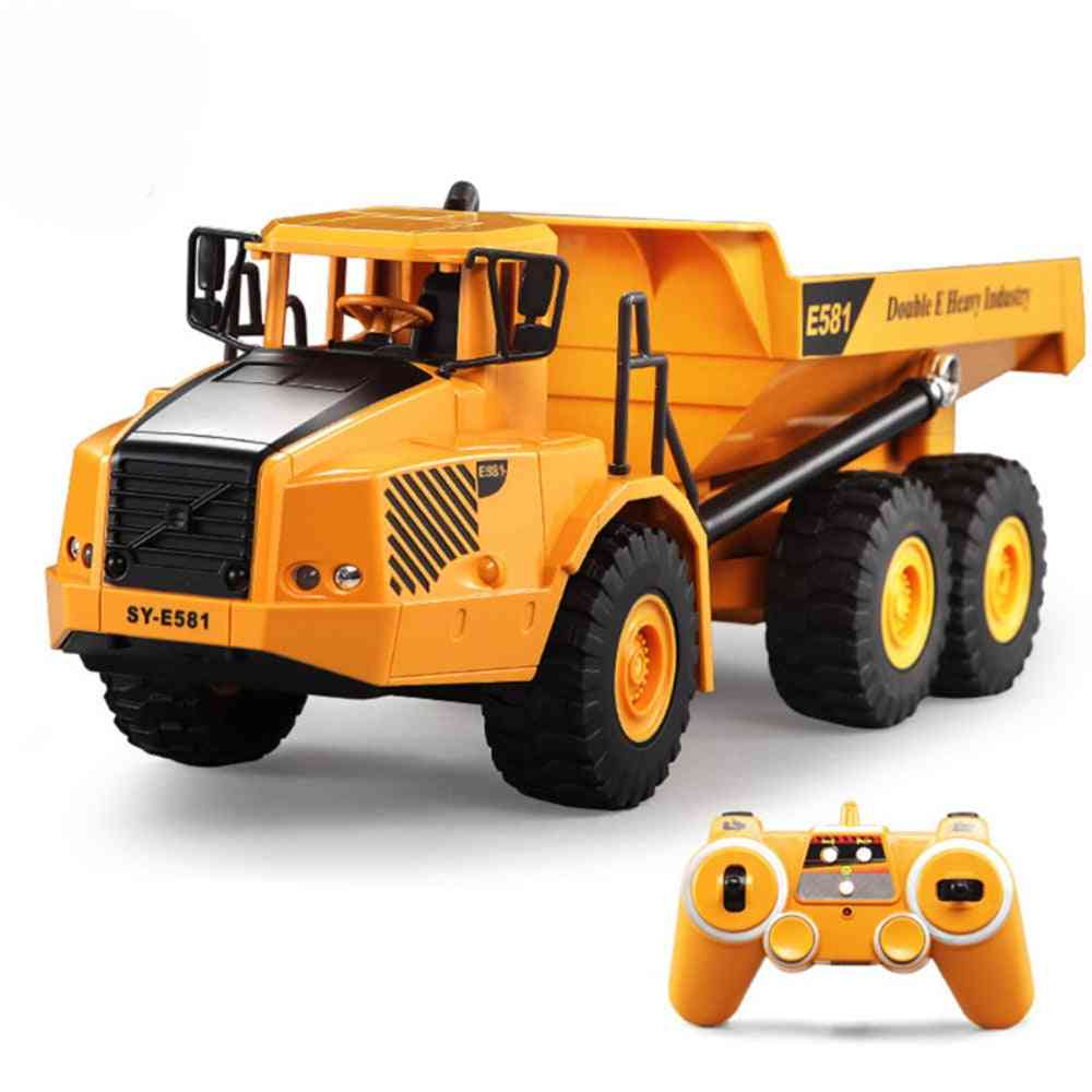 1:16 Remote Control Truck Dumper, Musical Led Caterpillar Construction Tractor